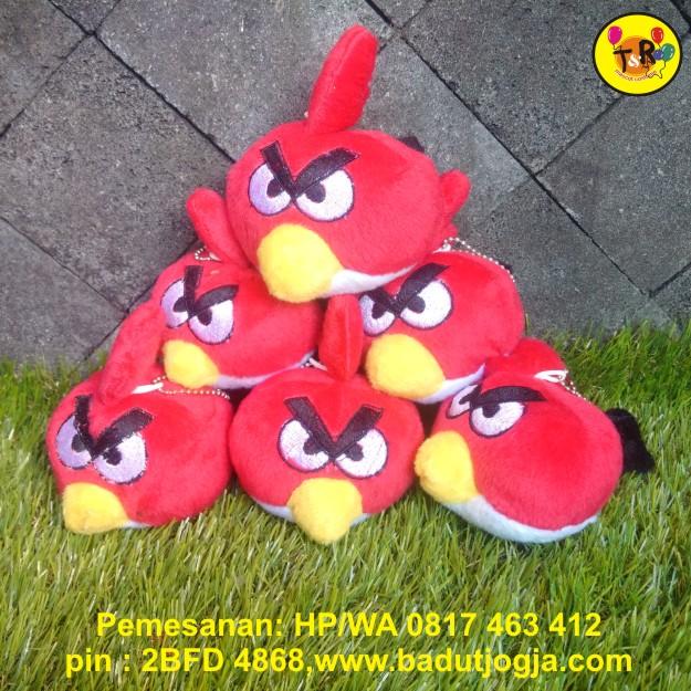 boneka gantungan kunci angry bird merah