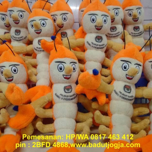 boneka maskot kpu sumatera selatan
