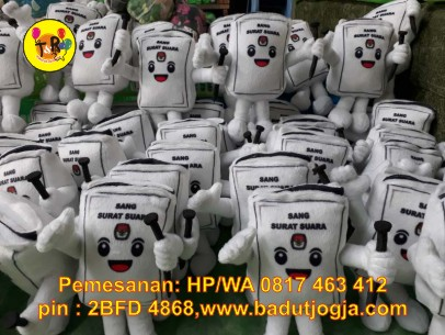 boneka souvenir maskot KPU 2019 si sura sang surat suara sura