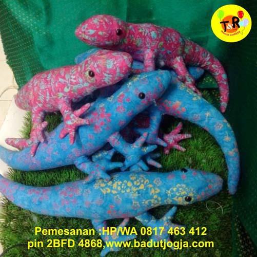 jual boneka batik hewan cicak