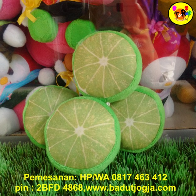 jual boneka-gantungan-kunci-buah-jeruk-nipis-2-sisi