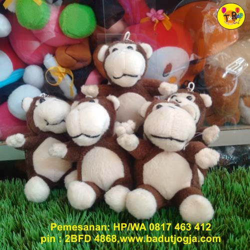 produsen-boneka-gantungan-kunci-monyet-coklat
