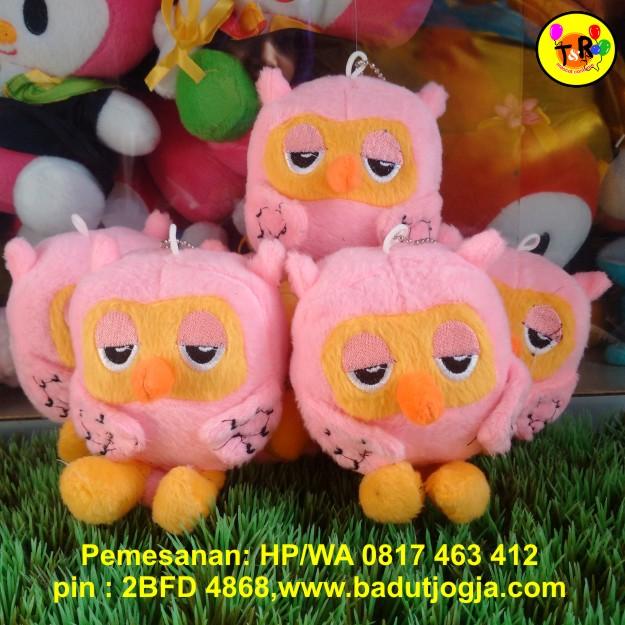 produsen-boneka-gantungan-kunci-owl-pink
