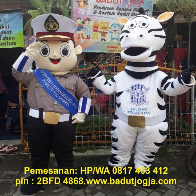 maskot polisi dan zebra polresta jogja