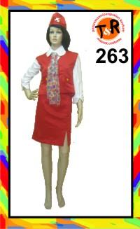 263.persewaan kostum pramugari