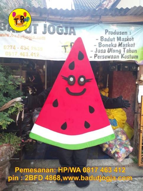 kostum badut maskot buah departemen kesehatan