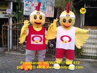 maskot quick chicken ayam