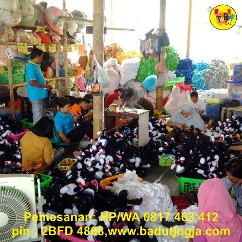 proses produksi boneka maskot porda koni kulonprogo yogyakarta