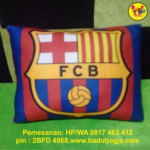 bantal printing barcelona,logo,club bola