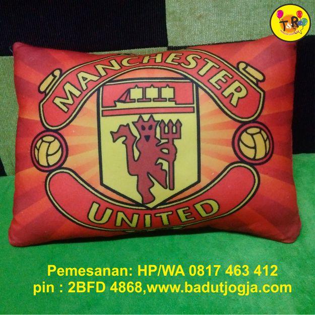 bantal printing mu ,manchester United. logo club sepak bola