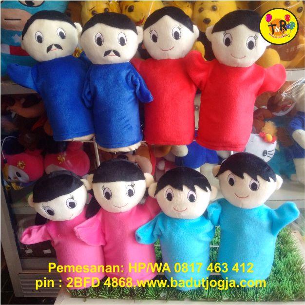 boneka tangan keluarga ayah,ibu,anak laki-laki,anak perempuan