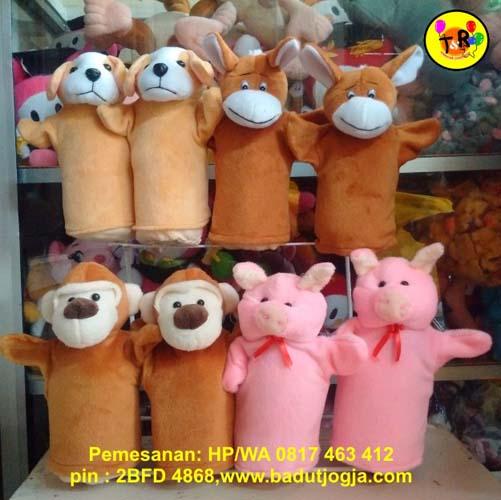 jual aneka boneka tangan hewan murah