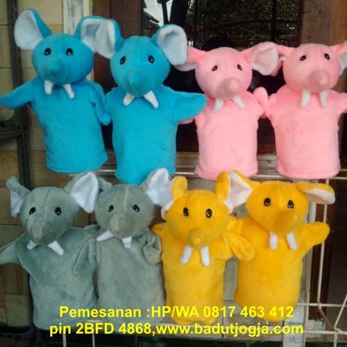 jual boneka tangan gajah murah