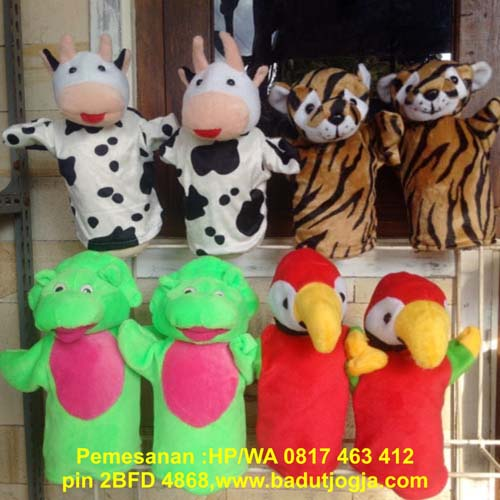 jual boneka tangan karakter hewan